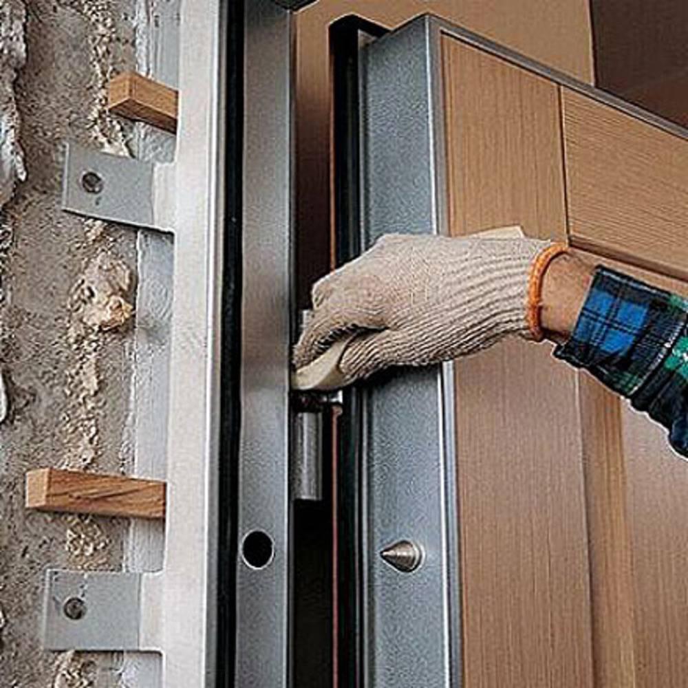 Установка металлических дверей своими руками you