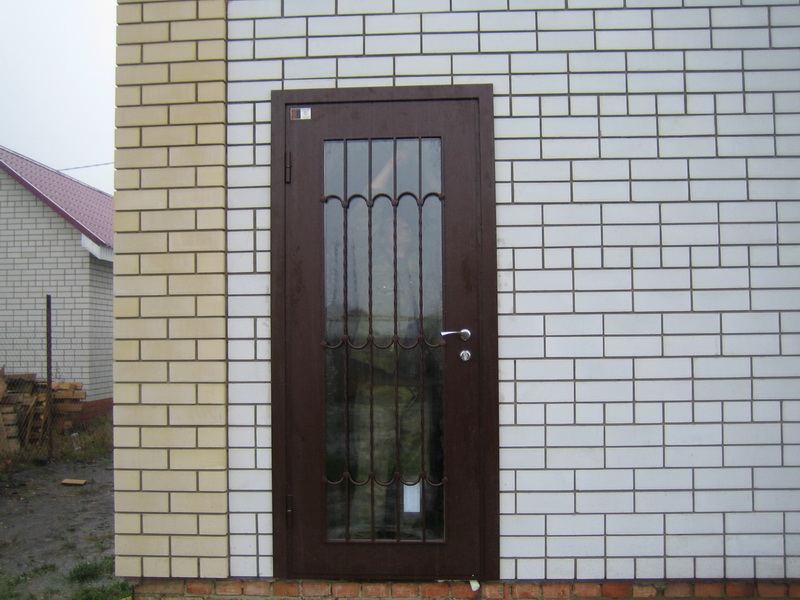 стальный двери со стеклопакетом